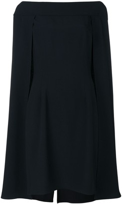 Alberta Ferretti Cape Layered Dress