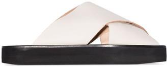 ATP ATELIER Acai flat leather sandals
