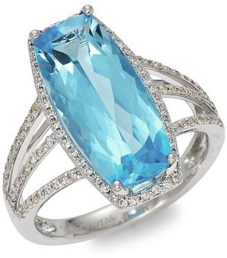 Saks Fifth Avenue 14K White Gold, Topaz Diamond Multi-Band Ring
