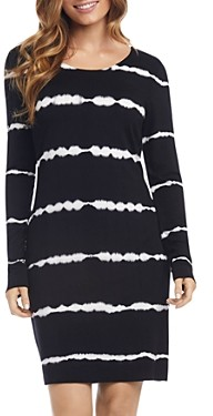 Karen Kane Tie-Dyed Long Sleeve Sheath Dress
