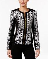 Calvin Klein Jacquard Moto Jacket