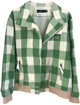 Fred Perry Green Cotton Jacket for Women