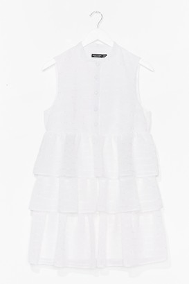 Nasty Gal Womens Tier's to Never Growing Up Ruffle Mini Dress - White - 4