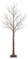 Philips 6ft Pre-Lit LED Artificial Christmas Tree Brown - White Lights