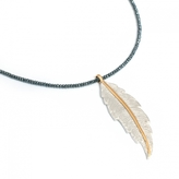 LeiVanKash Feather Hematite Necklace