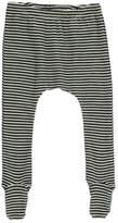 Nui Sale - Stripe Ribbed Organic Merino Wool Trousers with Feet