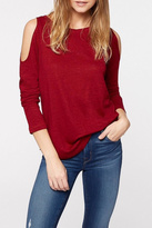 Sanctuary Red Cold Shoulder Top