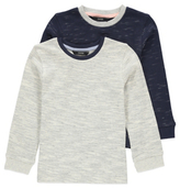 George 2 Pack Textured Long Sleeve Tops