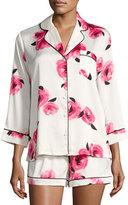 Kate Spade Floral-Print Shortie Pajama Set