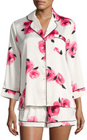 Kate Spade Swan-Print Charmeuse Shorty Pajama Set