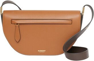 Burberry Small Olympia Two-Tone Leather Bag