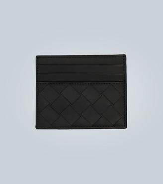 Bottega Veneta Leather cardholder with weave motif