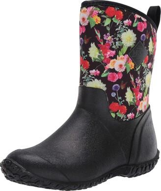 Muck Boot Muckster ll Mid-Height Womens Rubber Garden Boots- Black/Night Floral Print (WM2-001) 11