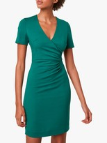 French Connection Esmi Stretch Short Sleeve Bodycon Dress, Evergreen
