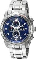 Bulova 96C121 Men's Quartz Chronograph Watch with Black Dial and Stainless Steel Strap