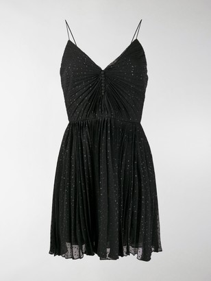 Saint Laurent Glitter-Effect Mini Dress