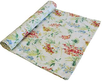 One Kings Lane Vintage English Cottage Floral Table Runner - white/rose/green/blue/multi
