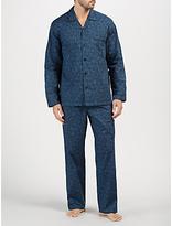 John Lewis Paisley Print Cotton Pyjamas, Blue