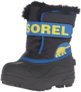 Sorel Childrens Snow Commander (Tod/Yth) - Black/Super Blue - 8 Toddler