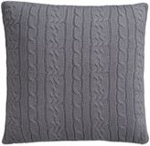 Izod Cable Knit Quiet Shade Square Throw Pillow in Grey