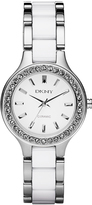DKNY Chambers White Glitz Ceramic Watch