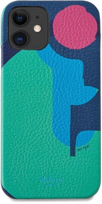 Mulberry iPhone 12 Cover Multicolour Printed Leather