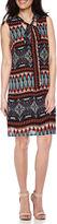 Robbie Bee Sleeveless Tie-Neck Sheath Dress - Petite
