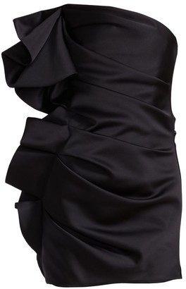 Alexandre Vauthier Ruffled Side Ruched Mini Dress