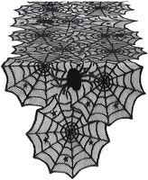 DESIGN IMPORTS Spider Web Lace Table Runner
