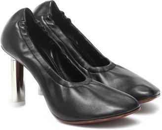 Vetements Ballerina leather pumps