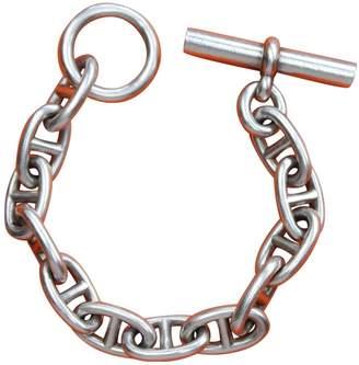 Hermes Chaine d'Ancre Silver Silver Bracelets
