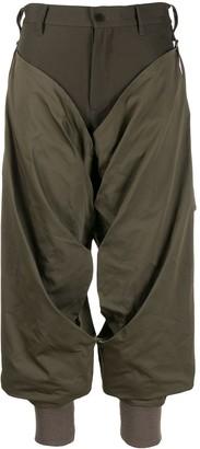 Yohji Yamamoto draped cropped trousers