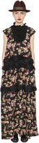 Antonio Marras Embellished Floral Printed Crepe Dress