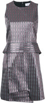 Carven striped metallic mini dress