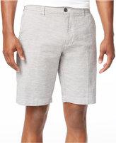 Ben Sherman Men's Flat-Front Micro-Stripe Linen Blend Shorts