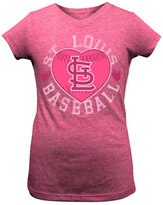 5th & Ocean Girls' St. Louis Cardinals Baseball Heart T-Shirt
