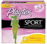Playtex Sport Plastic Applicator Unscented Regular Absorbency Tampons 36-ct.
