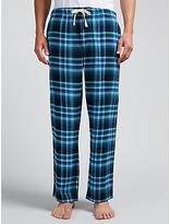 John Lewis Hiltingbury Check Brushed Cotton Lounge Pants, Blue