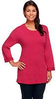 Denim & Co. Active 3/4 Sleeve Drop Shoulder Knit Tunic