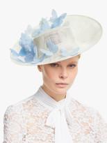 Bundle MacLaren Millinery Gigi Butterfly Detail Disc Occasion Hat, Ivory/Pastel Blue