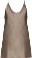 Raey Deep scoop-neck silk-satin cami top