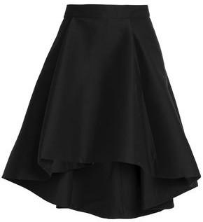 Halston Flared Cotton And Silk-blend Skirt