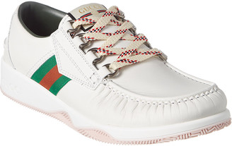 Gucci Web Leather Sneaker