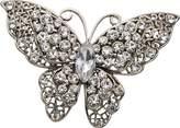 H Gaventa Ltd Crystal Butterfly Shape Base Metal Brooch