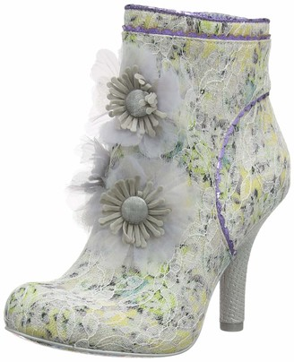 Irregular Choice Women's Queen Velvet Wedding Shoes (White Dark) 6.5 (40 EU)