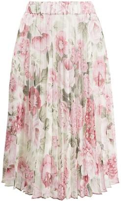 P.A.R.O.S.H. Floral Midi Skirt