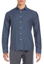 Billy Reid Standard-Fit Graphic Check Cotton Sportshirt