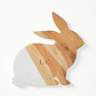 Mark And Graham Wood and Marble Bunny Cheese Board