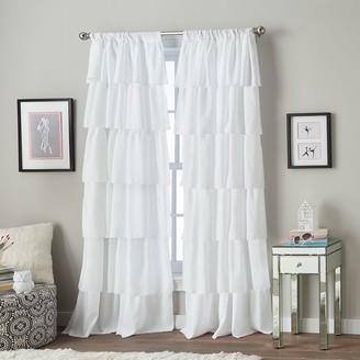 "CHF Ruffle Openline 84"" Poletop Window Curtain"