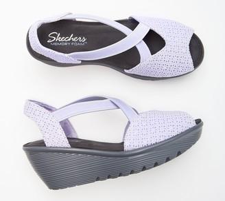 Skechers Peep-Toe Sling Back Wedges - Parallel